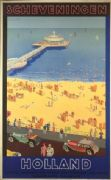 Vintage Dutch travel poster - Scheveningen